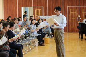 創立80周年記念式典Ⅱ「記念合同合唱」の練習会が行われました